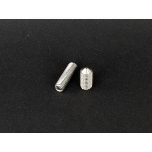 Rozsdamentes kúpos végű belsőkulcsnyílású hernyócsavar  (DIN914, M6x, 8mm, A2)