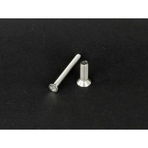 Rozsdamentes süllyesztettfejű kereszthornyú csavar  (DIN965, M2x, 4mm, A2)