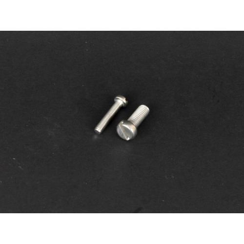 Rozsdamentes hengeresfejű tövigmenetes egyeneshornyú csavar  (DIN84, M3x, 10mm, A2)
